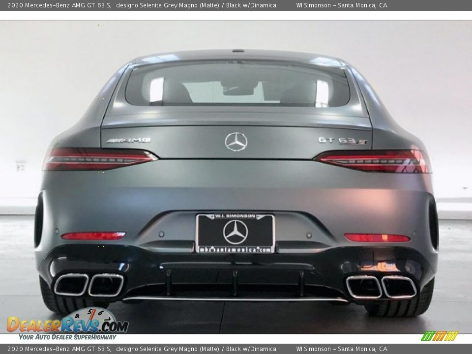 2020 Mercedes-Benz AMG GT 63 S designo Selenite Grey Magno (Matte) / Black w/Dinamica Photo #3