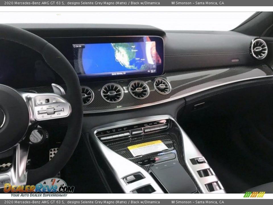 2020 Mercedes-Benz AMG GT 63 S designo Selenite Grey Magno (Matte) / Black w/Dinamica Photo #5