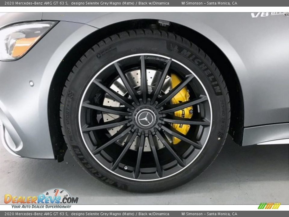 2020 Mercedes-Benz AMG GT 63 S designo Selenite Grey Magno (Matte) / Black w/Dinamica Photo #8