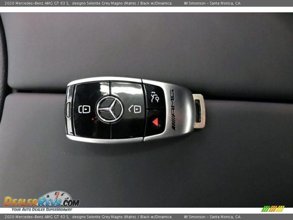 2020 Mercedes-Benz AMG GT 63 S designo Selenite Grey Magno (Matte) / Black w/Dinamica Photo #11