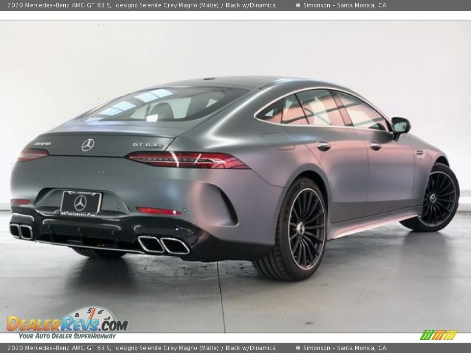 2020 Mercedes-Benz AMG GT 63 S designo Selenite Grey Magno (Matte) / Black w/Dinamica Photo #16