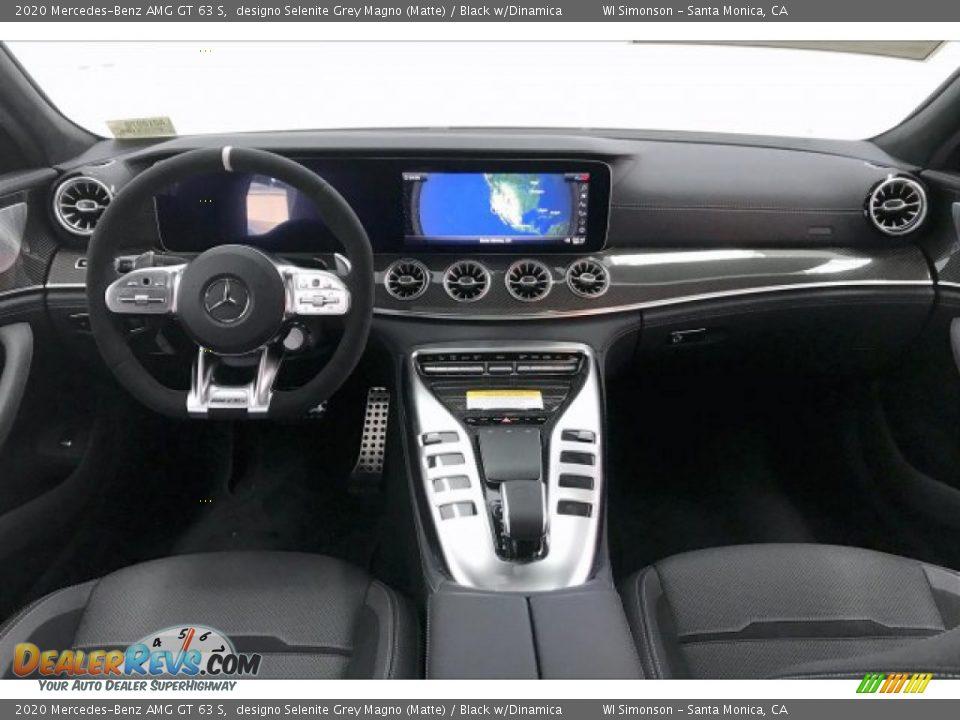 2020 Mercedes-Benz AMG GT 63 S designo Selenite Grey Magno (Matte) / Black w/Dinamica Photo #17