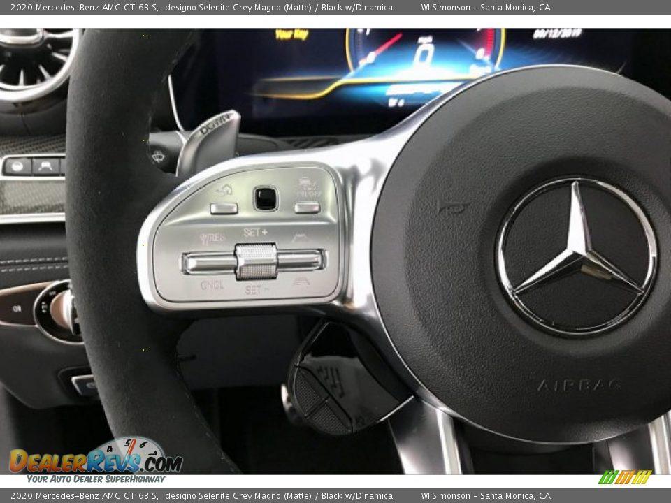 2020 Mercedes-Benz AMG GT 63 S designo Selenite Grey Magno (Matte) / Black w/Dinamica Photo #18