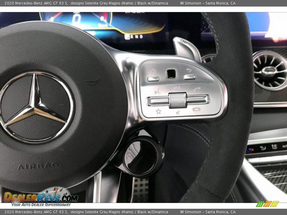 2020 Mercedes-Benz AMG GT 63 S designo Selenite Grey Magno (Matte) / Black w/Dinamica Photo #19