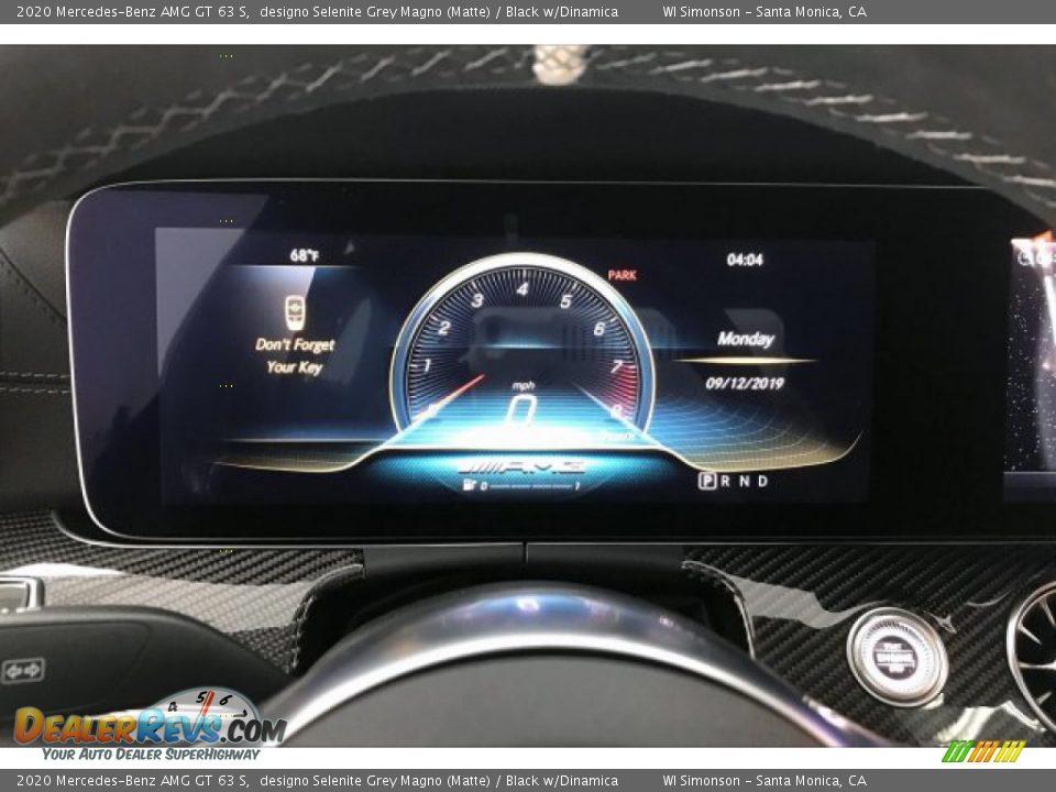 2020 Mercedes-Benz AMG GT 63 S designo Selenite Grey Magno (Matte) / Black w/Dinamica Photo #20