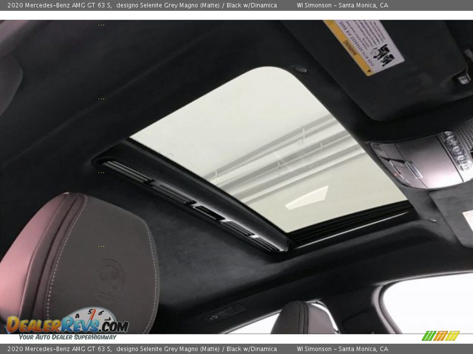 2020 Mercedes-Benz AMG GT 63 S designo Selenite Grey Magno (Matte) / Black w/Dinamica Photo #29