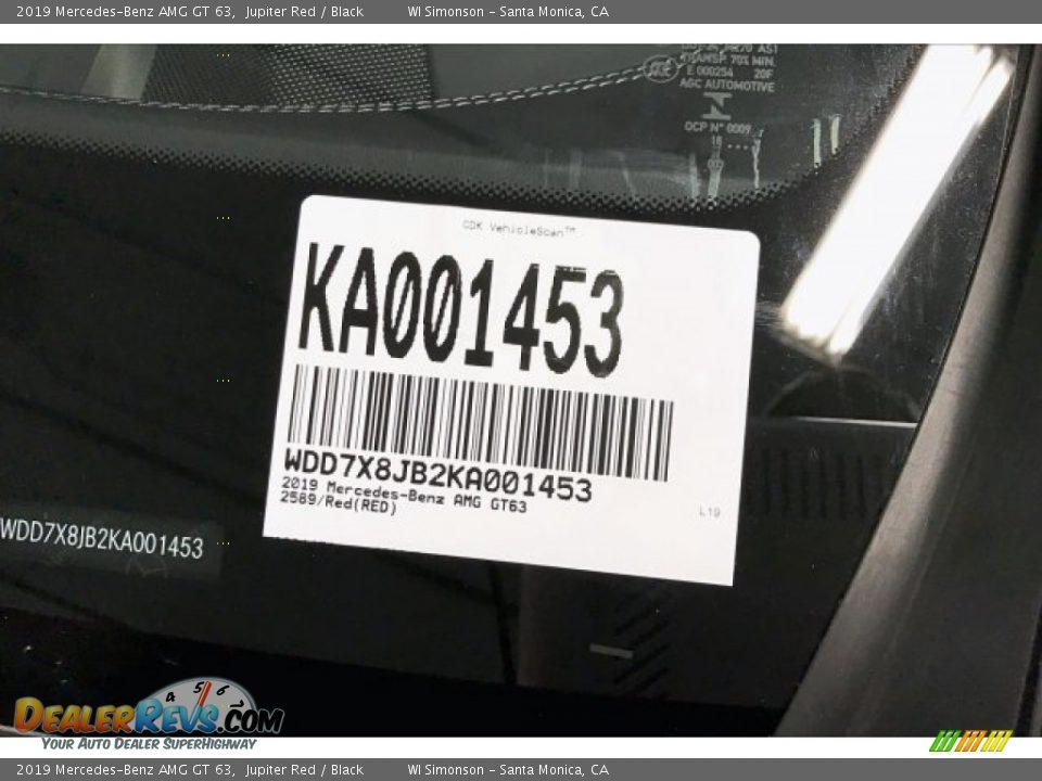 2019 Mercedes-Benz AMG GT 63 Jupiter Red / Black Photo #12