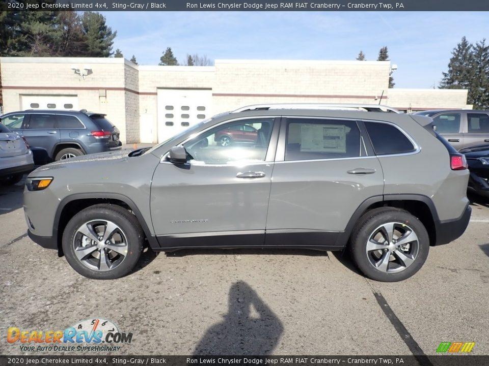 2020 Jeep Cherokee Limited 4x4 Sting-Gray / Black Photo #2