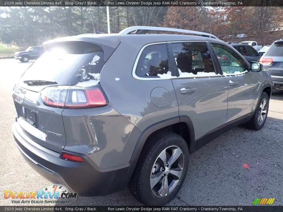2020 Jeep Cherokee Limited 4x4 Sting-Gray / Black Photo #5