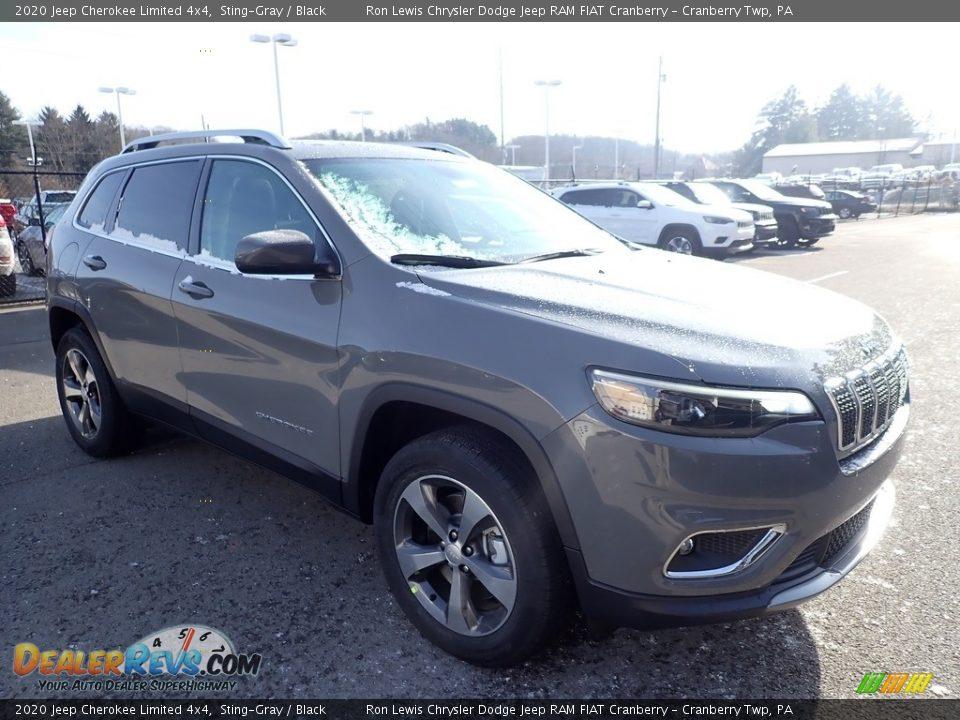 2020 Jeep Cherokee Limited 4x4 Sting-Gray / Black Photo #7