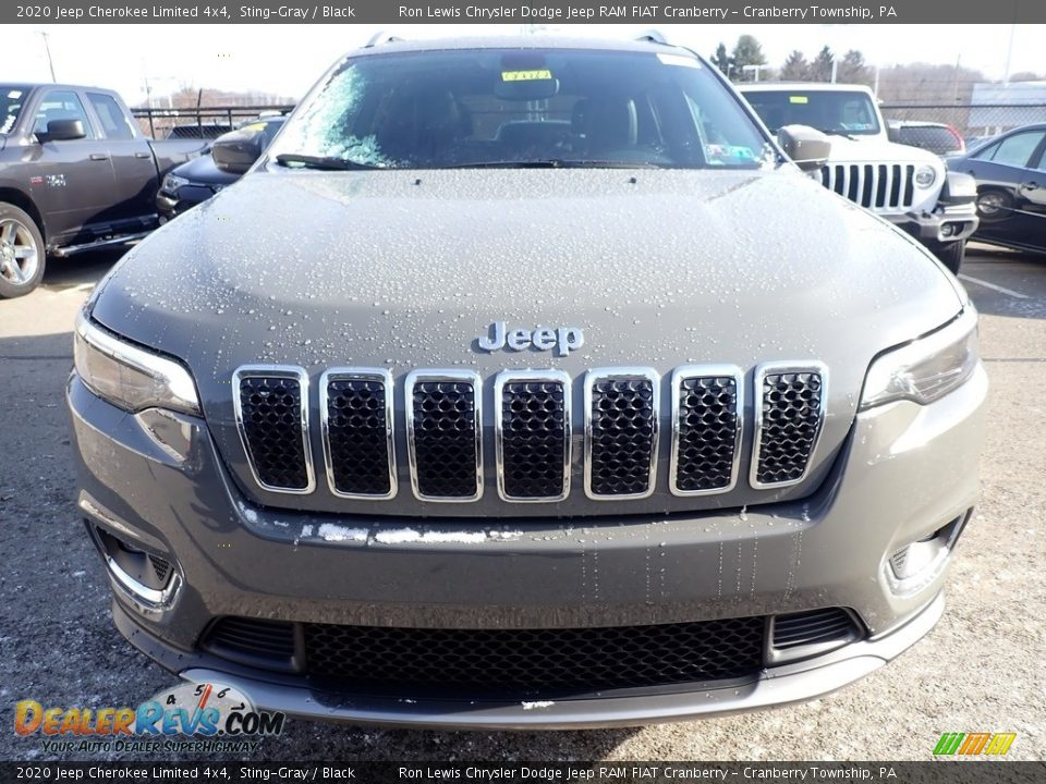 2020 Jeep Cherokee Limited 4x4 Sting-Gray / Black Photo #8