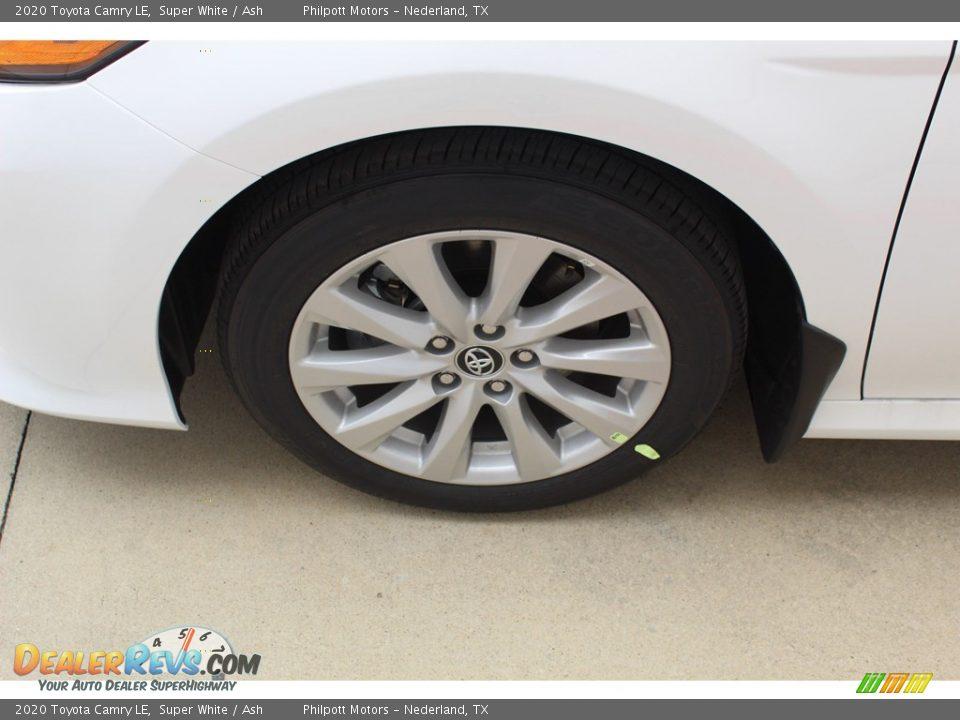 2020 Toyota Camry LE Super White / Ash Photo #5