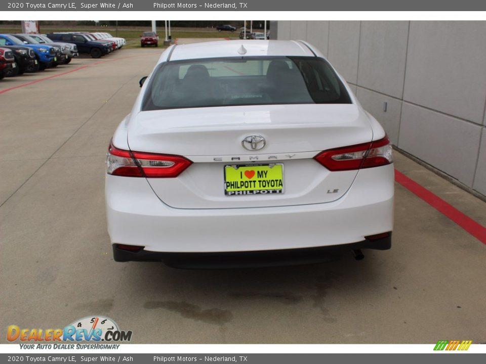 2020 Toyota Camry LE Super White / Ash Photo #7