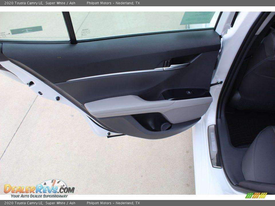 2020 Toyota Camry LE Super White / Ash Photo #21