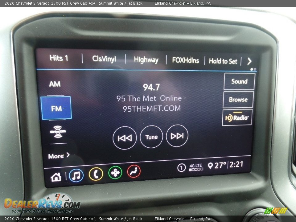 2020 Chevrolet Silverado 1500 RST Crew Cab 4x4 Summit White / Jet Black Photo #29