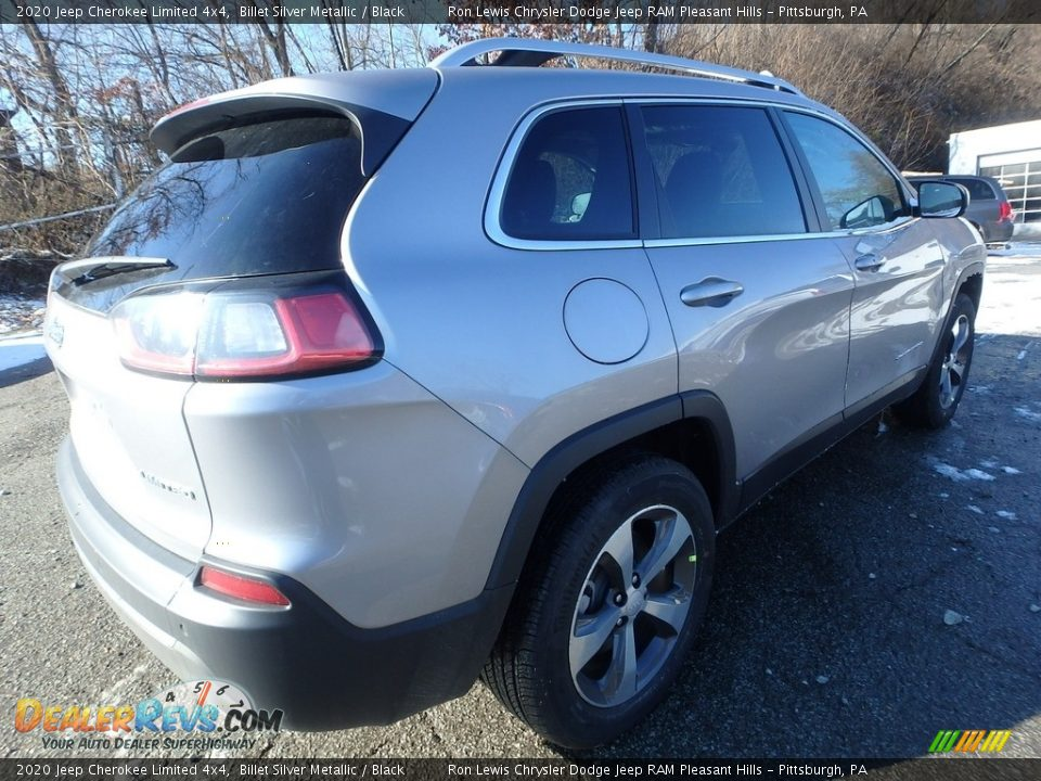 2020 Jeep Cherokee Limited 4x4 Billet Silver Metallic / Black Photo #6