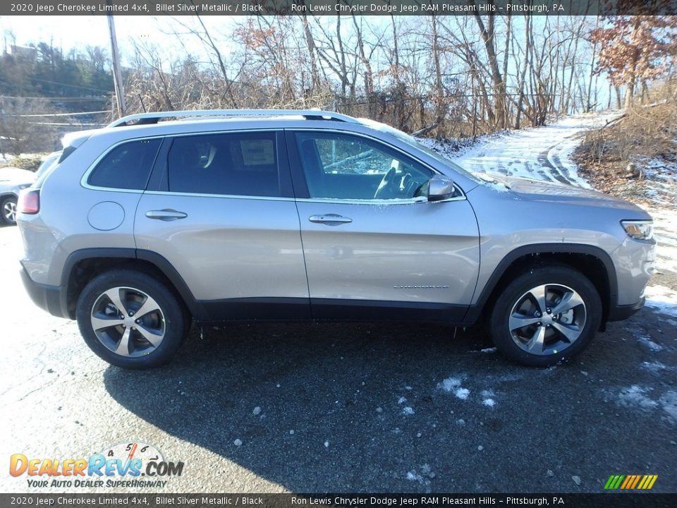 2020 Jeep Cherokee Limited 4x4 Billet Silver Metallic / Black Photo #7