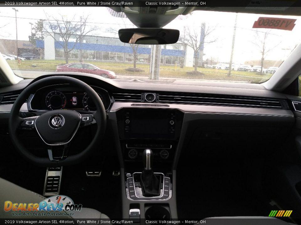 2019 Volkswagen Arteon SEL 4Motion Pure White / Stone Gray/Raven Photo #4
