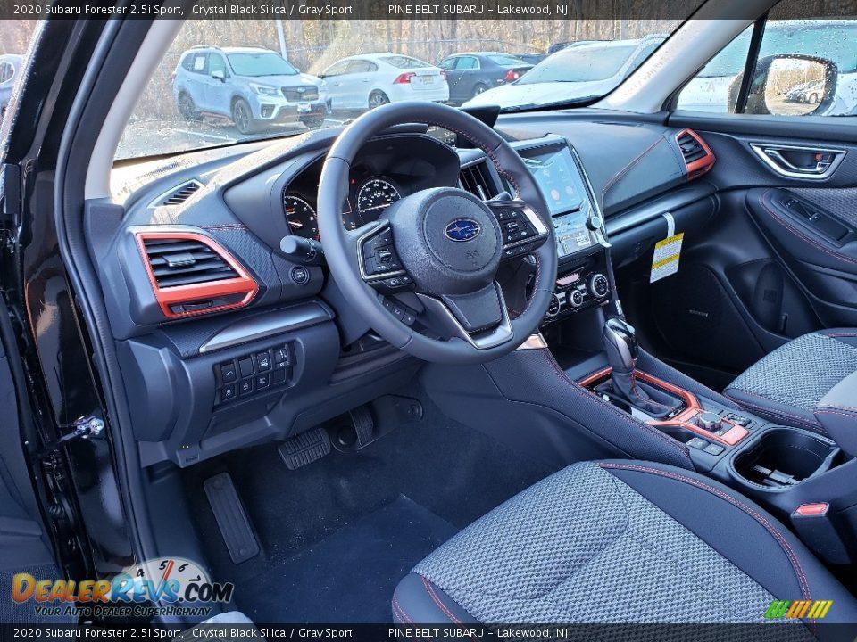 2020 Subaru Forester 2.5i Sport Crystal Black Silica / Gray Sport Photo #7