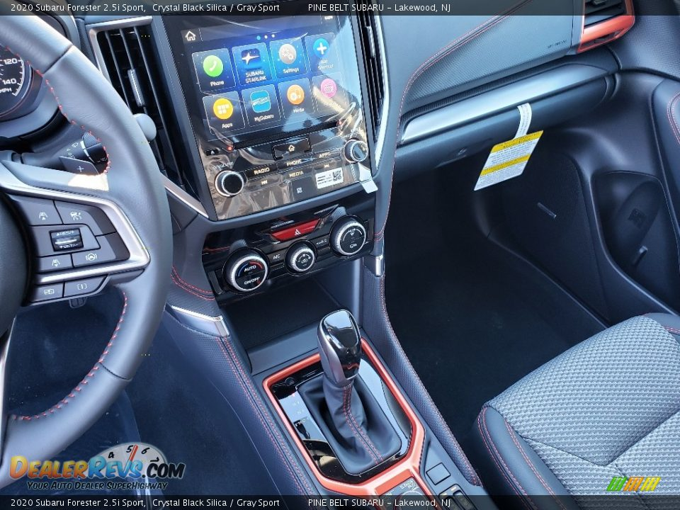 2020 Subaru Forester 2.5i Sport Crystal Black Silica / Gray Sport Photo #9