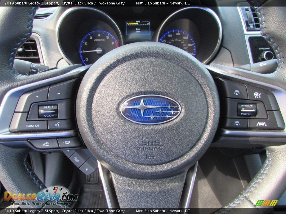 2019 Subaru Legacy 2.5i Sport Crystal Black Silica / Two-Tone Gray Photo #11