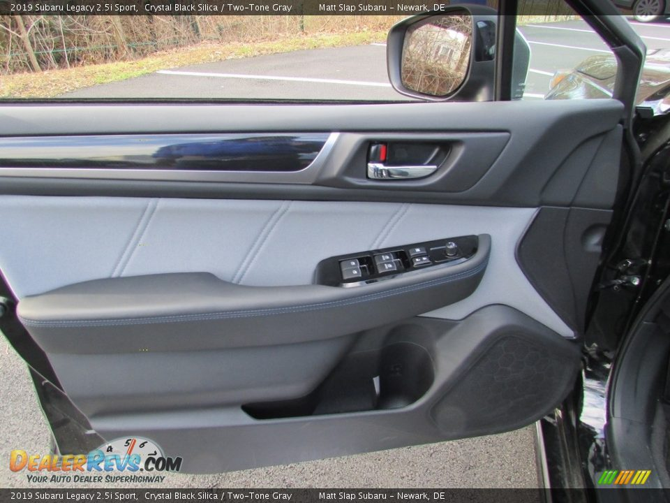 2019 Subaru Legacy 2.5i Sport Crystal Black Silica / Two-Tone Gray Photo #14