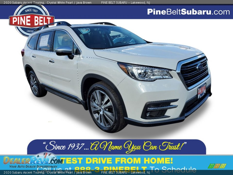 2020 Subaru Ascent Touring Crystal White Pearl / Java Brown Photo #1