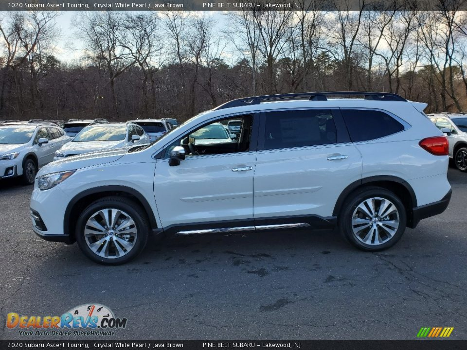 2020 Subaru Ascent Touring Crystal White Pearl / Java Brown Photo #3