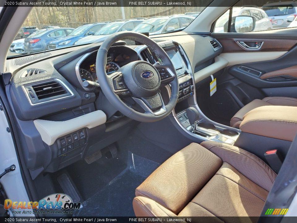 2020 Subaru Ascent Touring Crystal White Pearl / Java Brown Photo #7