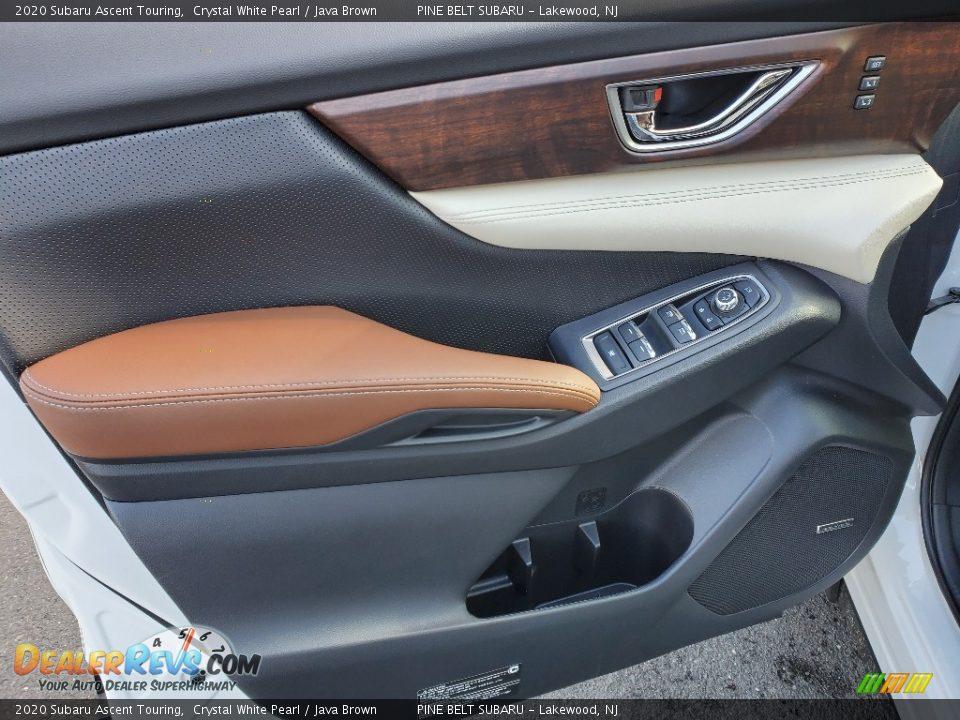 2020 Subaru Ascent Touring Crystal White Pearl / Java Brown Photo #8