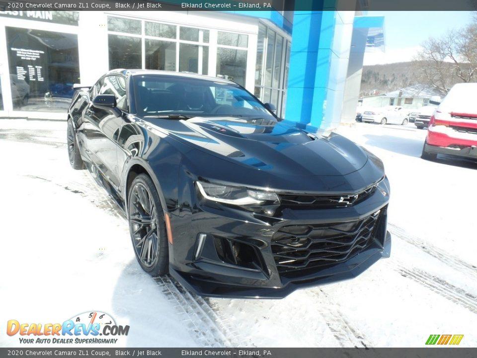 2020 Chevrolet Camaro ZL1 Coupe Black / Jet Black Photo #4