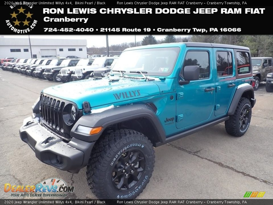 2020 Jeep Wrangler Unlimited Willys 4x4 Bikini Pearl / Black Photo #1