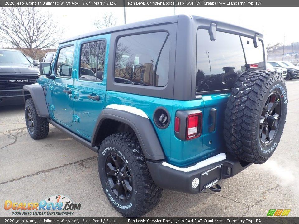 2020 Jeep Wrangler Unlimited Willys 4x4 Bikini Pearl / Black Photo #3