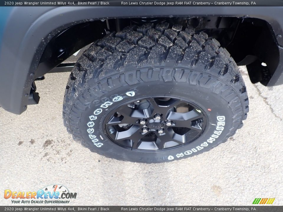 2020 Jeep Wrangler Unlimited Willys 4x4 Bikini Pearl / Black Photo #9
