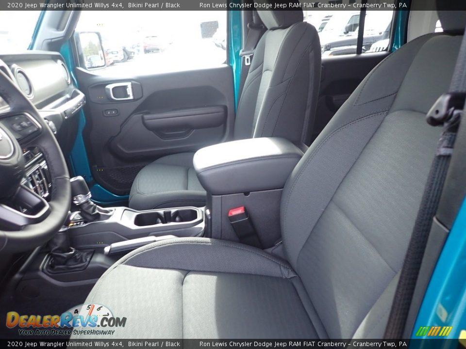 2020 Jeep Wrangler Unlimited Willys 4x4 Bikini Pearl / Black Photo #13