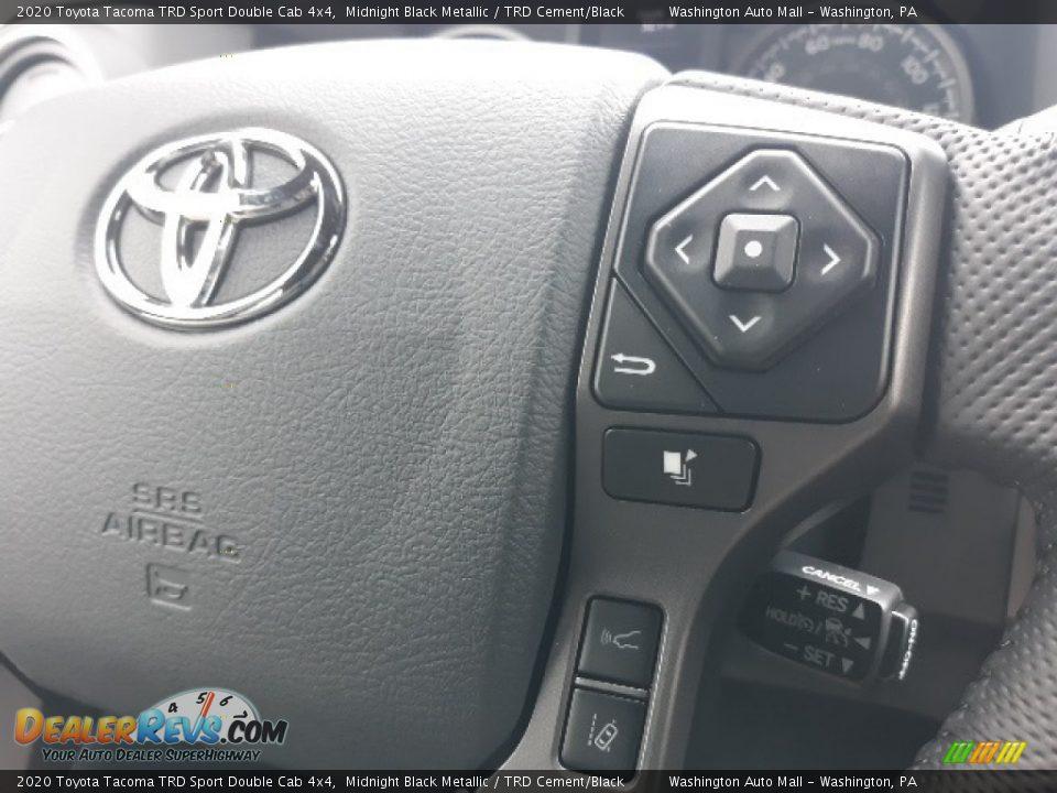 2020 Toyota Tacoma TRD Sport Double Cab 4x4 Midnight Black Metallic / TRD Cement/Black Photo #9