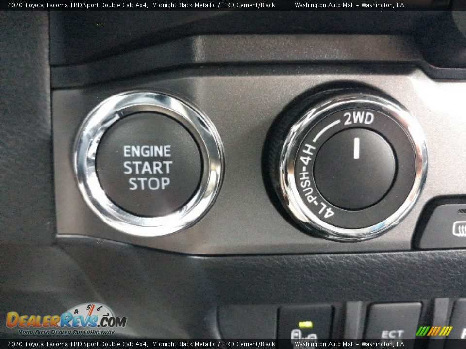 2020 Toyota Tacoma TRD Sport Double Cab 4x4 Midnight Black Metallic / TRD Cement/Black Photo #13