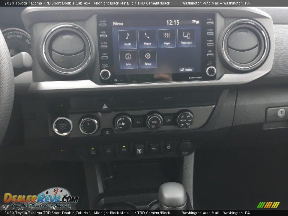 2020 Toyota Tacoma TRD Sport Double Cab 4x4 Midnight Black Metallic / TRD Cement/Black Photo #14