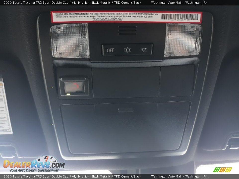 2020 Toyota Tacoma TRD Sport Double Cab 4x4 Midnight Black Metallic / TRD Cement/Black Photo #19