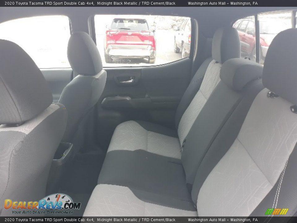 2020 Toyota Tacoma TRD Sport Double Cab 4x4 Midnight Black Metallic / TRD Cement/Black Photo #22