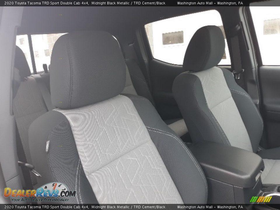 2020 Toyota Tacoma TRD Sport Double Cab 4x4 Midnight Black Metallic / TRD Cement/Black Photo #29
