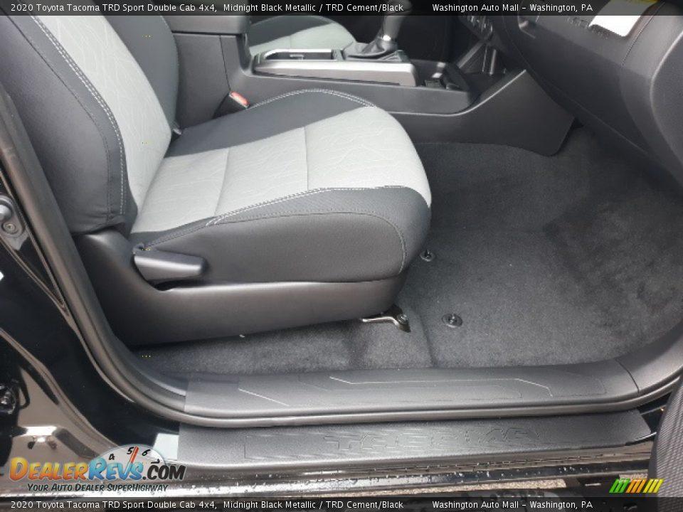 2020 Toyota Tacoma TRD Sport Double Cab 4x4 Midnight Black Metallic / TRD Cement/Black Photo #30