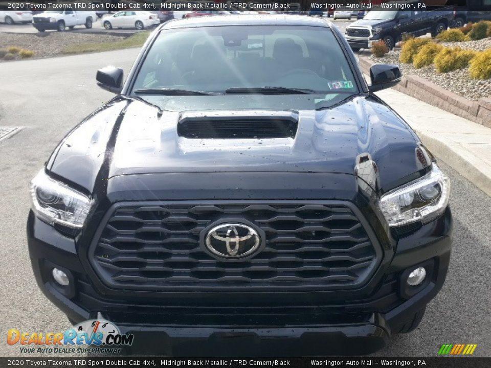 2020 Toyota Tacoma TRD Sport Double Cab 4x4 Midnight Black Metallic / TRD Cement/Black Photo #31