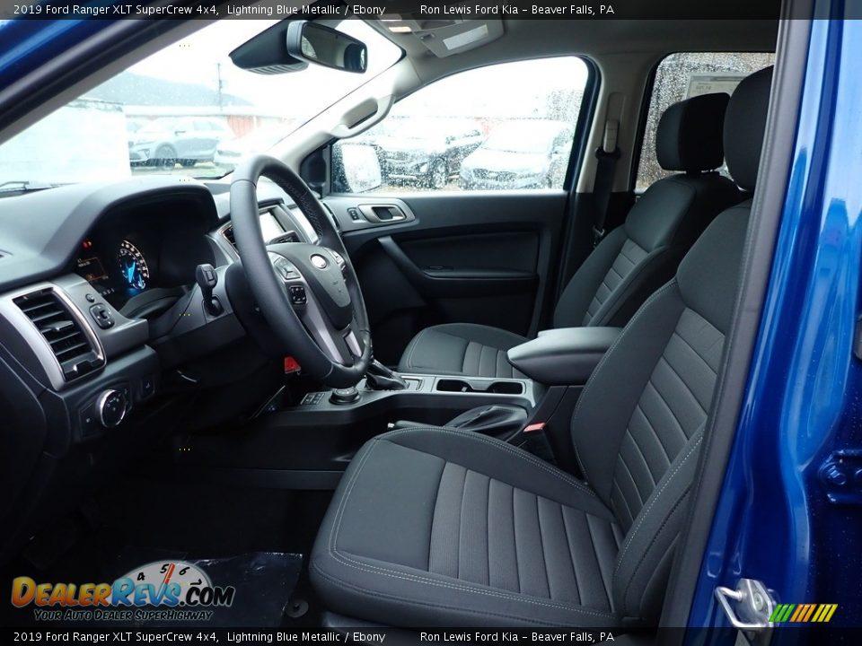 2019 Ford Ranger XLT SuperCrew 4x4 Lightning Blue Metallic / Ebony Photo #11