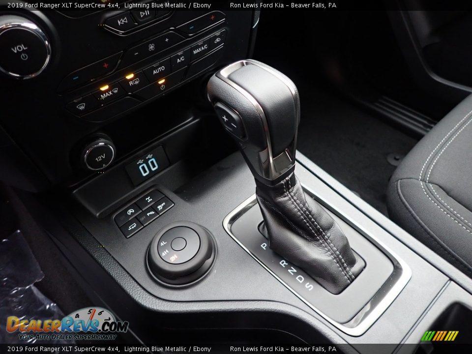 2019 Ford Ranger XLT SuperCrew 4x4 Lightning Blue Metallic / Ebony Photo #17