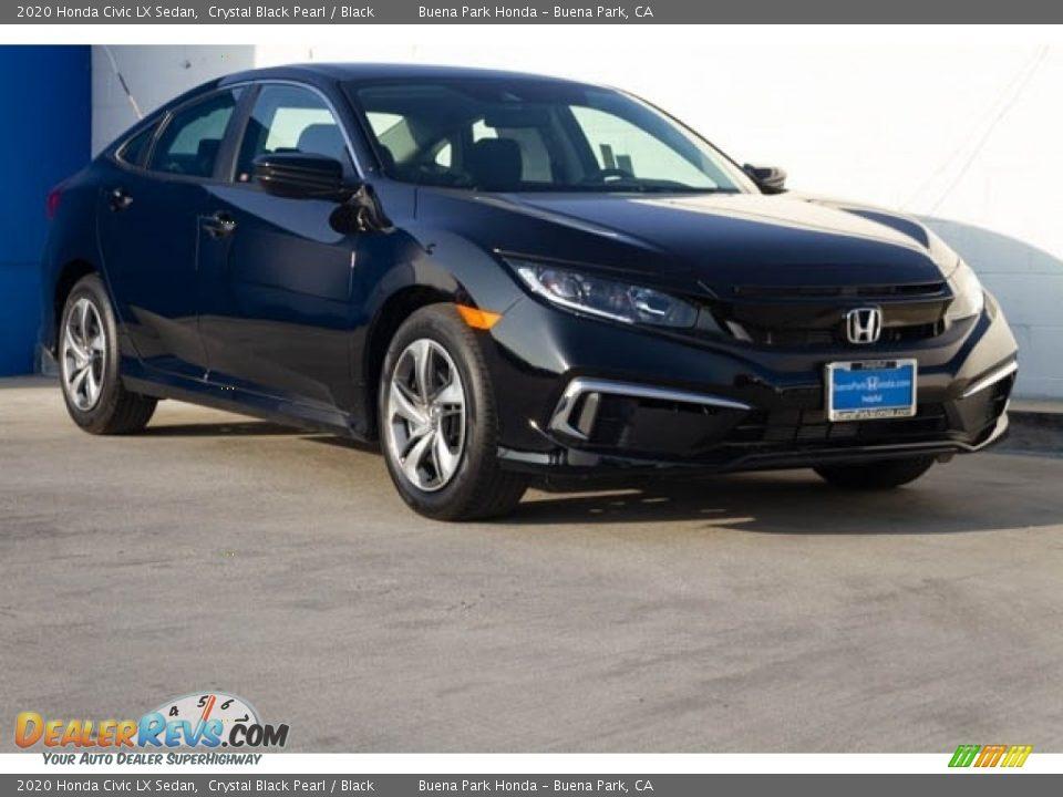 2020 Honda Civic LX Sedan Crystal Black Pearl / Black Photo #1