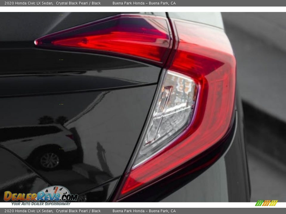 2020 Honda Civic LX Sedan Crystal Black Pearl / Black Photo #8