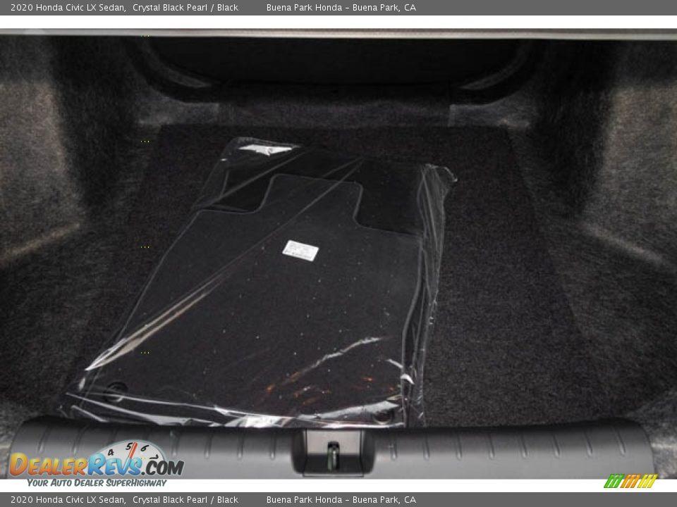 2020 Honda Civic LX Sedan Crystal Black Pearl / Black Photo #26