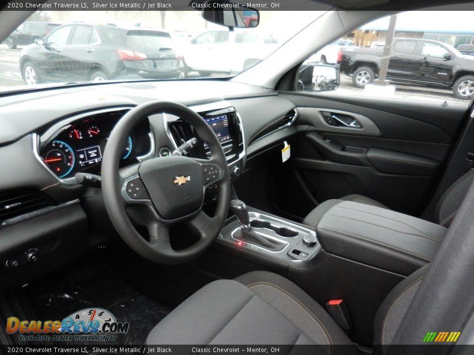 Jet Black Interior - 2020 Chevrolet Traverse LS Photo #6