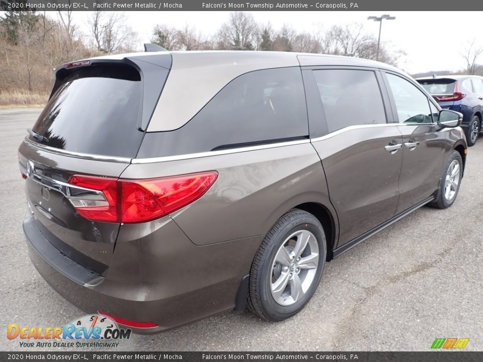 2020 Honda Odyssey EX-L Pacific Pewter Metallic / Mocha Photo #4